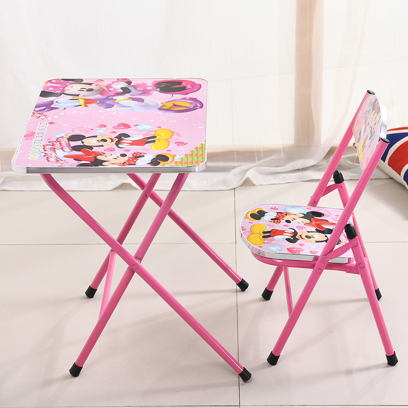 H1 Children's Desks Households Children's Study Desks And Chairs Folding And Lifting Desks And Chairs Cartoon Design Student's