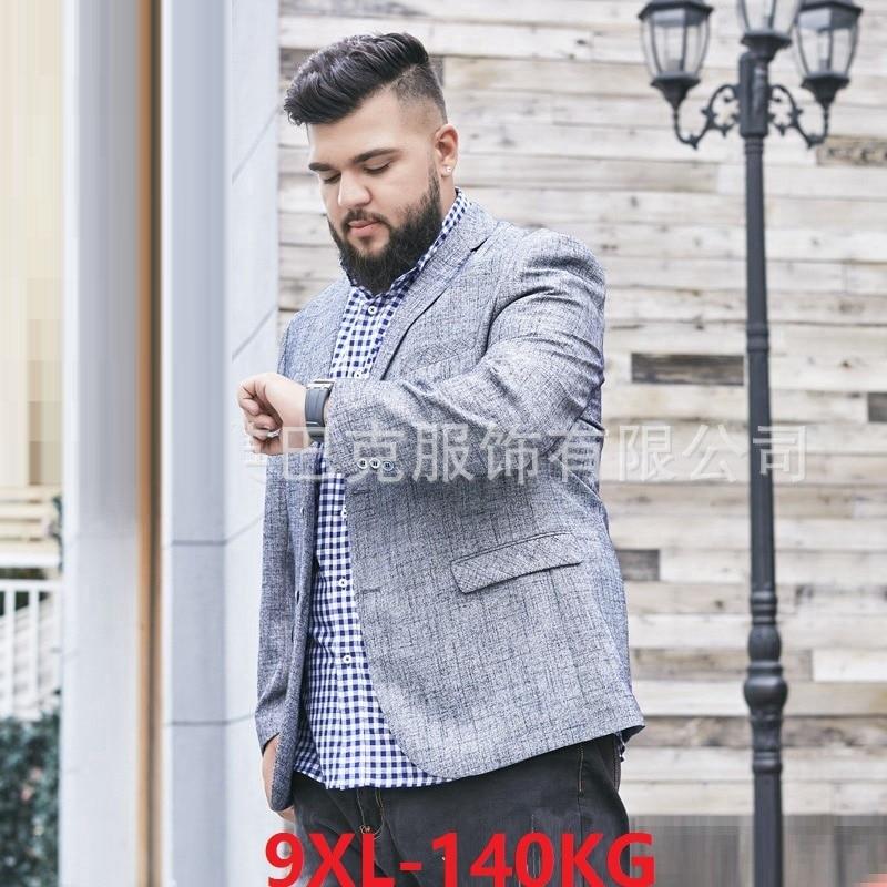 High Quality Autumn Men Suit Plus Size Big 6XL 7XL 8XL 9XL Men Expensive Jackets Casual Fashion Single Breasted Blazer Suit 60
