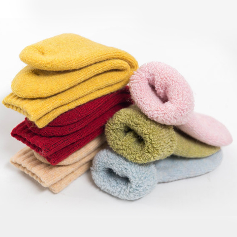 Toddler Woolen Thick Socks Girl Boy Newborn Infant Baby Winter Thermal Cotton Terry 0-10 Years Child  Teens Kids Warm Long Sock