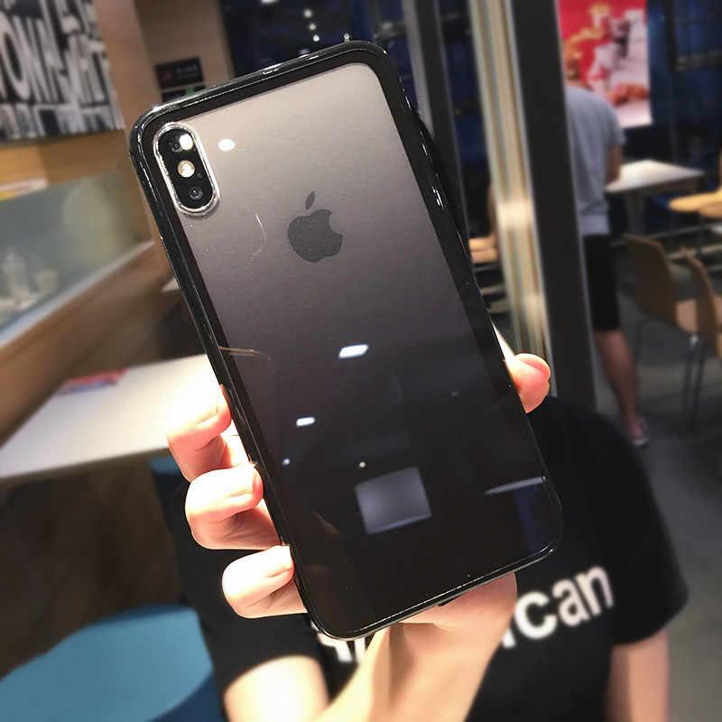 Lovebay transparente gradiente teléfono casos para iPhone 11Pro XS Max XR X acrílico caramelo cubierta para iPhone 11 7 7 6 6S Plus cubierta