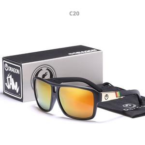 Image 1 - Mirrored lens Mannen Dragon Merk Ontwerp Rijden Vissen zonnebril Vierkante Glazen Voor Mannen UV400 Zomer Shades Eyewear
