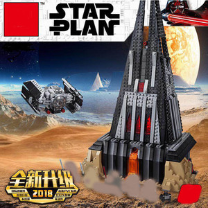 Star War Darth Vader's Castle Set Model Building Blocks Bricks DIY Toys for Children Gifs StarWar lepines 75251(China)