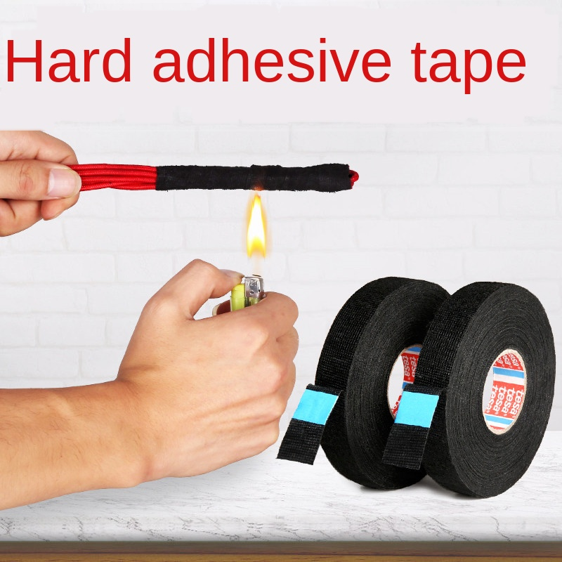 Length15M New Tesa Type Coroplast Adhesive Cloth Tape for Cable Harness Wiring Loom  Width 9/15/19/25/32MM