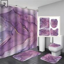 3D Art Geometric Shower Curtains in the Bathroom Waterproof Bath Curtain with Hook Sets Flannel Bath Mat Rugs Carpet Home Decor