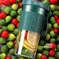 Juicer Mixer Portable 2000mah Travel Home USB Electric Fruit Juicer Mixing Rechargeable Three-leaf Mini Juicer Blender Cup