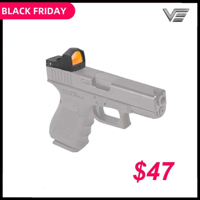 Vector Optics Sphinx 1x22 Auto Helligkeit Kompakte Red Dot Anblick Arzt 3 MOA 9mm Pistole 12ga Shotgun reflexvisier