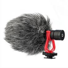 Micrófono cardioide condensador profesional para grabación, entrevista, teléfono móvil, micrófono en vivo para cámara DSLR, equipo de interfaz de 3,5mm
