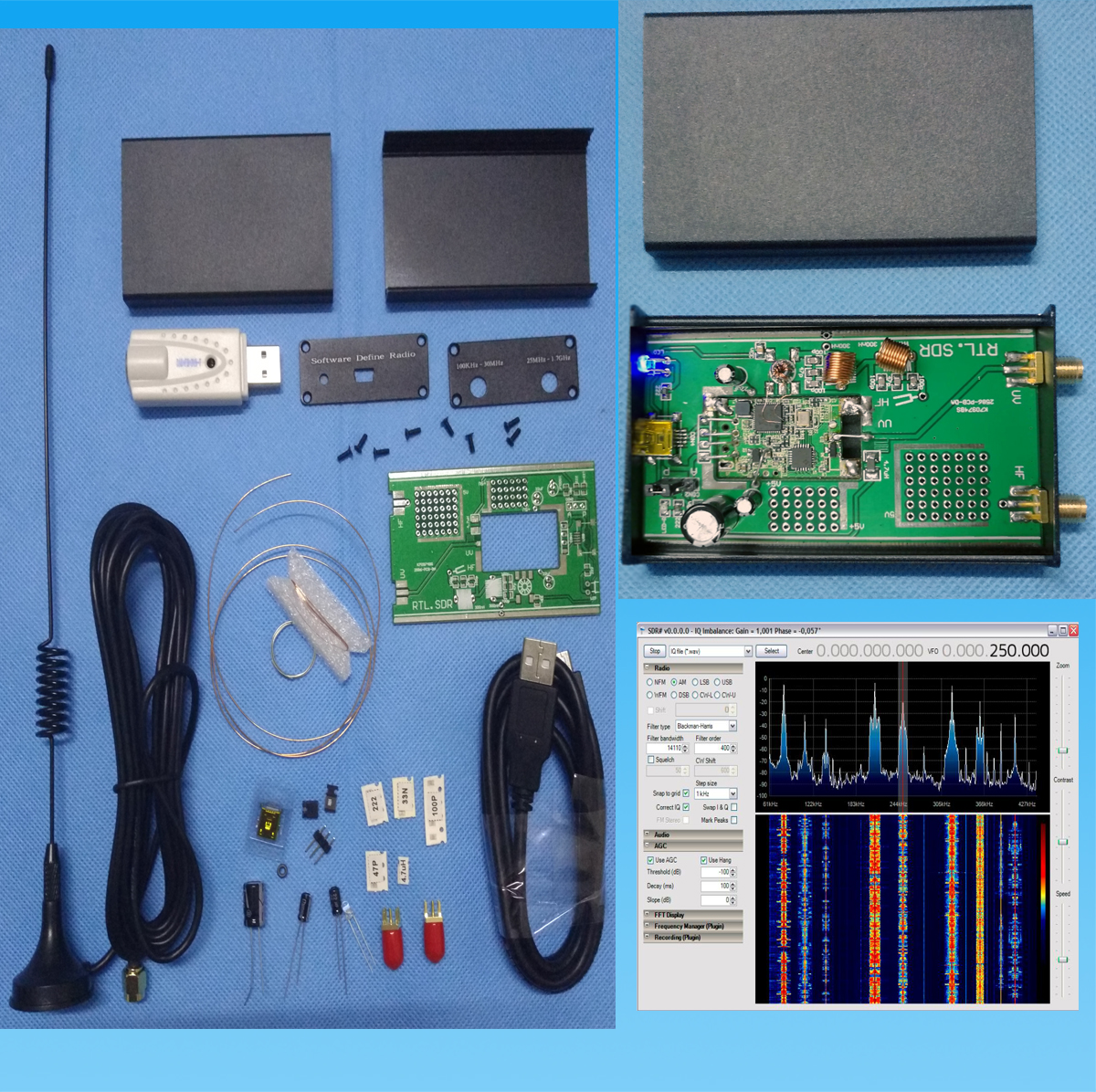 Full-band RTL SDR Short-wave Receiver Kit