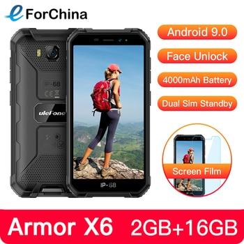 Перейти на Алиэкспресс и купить Ulefone Armor X6 IP68 прочный водонепроницаемый мобильный телефон 5 дюймAndroid 9,0 MTK6580A/W четырехъядерный 2 ГБ + 16 Гб Face ID 4000 мАч 3g смартфон