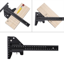 T Shape Aluminum Alloy Scale Metric Measure Scribing Ruler Woodworking Carpentry Marking Tool Line Drawing Ruler Wholesale