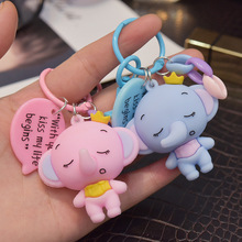 Dumbo epoxy Pendant Key Chains Ring Gift For Women Men Bag Elephant Cute Keychains Keyring Jewelry Kids gifts ring