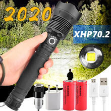 LED Flashlight XHP50 XHP70.2 Rechargeable-Battery Most-Powerful 3-Modes torch Xlamp Zoomable