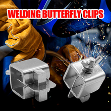 8pcs Welding Butterfly Clip Welding Stainless Steel Positioner Jacket Welding Sheet Metal Alignment Positioner Weld Holders