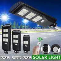 원격 제어와 led 태양 전지 패널 가로등 80 w 140 w 180 w 가로등 야외 정원 벽 램프 산업 보안 조명|가로등|   -