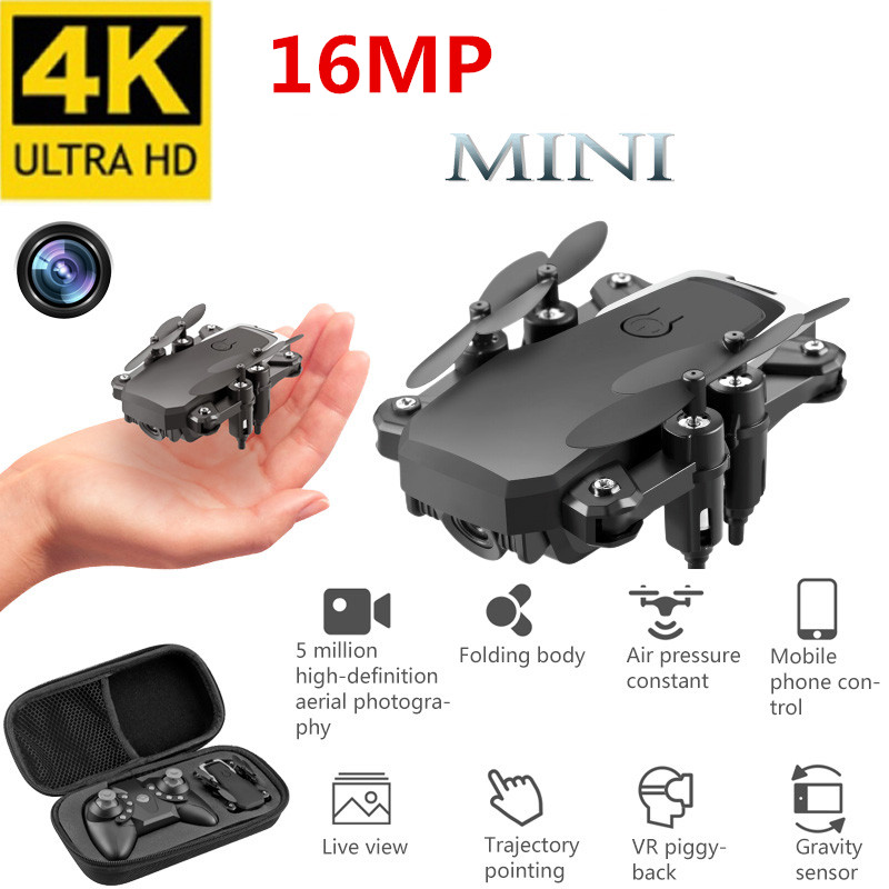 Best Mini Drone with 4K Camera HD Foldable Drones One-Key Return FPV Quadcopter Follow Me RC Helicopter Quadrocopter Kid's Toys image