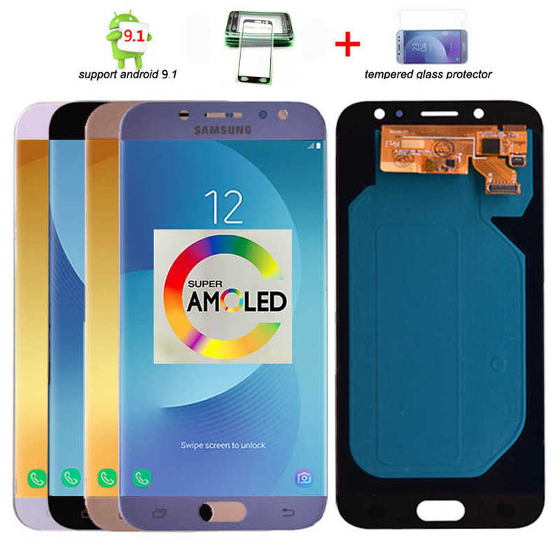 Originele Super Amoled Lcd Voor Samsung Galaxy J7 Pro 2017 J730 J730F Lcd-scherm En Touch Screen Digitizer Vergadering