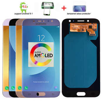Original Super Amoled LCD Für Samsung Galaxy J7 Pro 2017 J730 J730F LCD Display und Touch Screen Digitizer Montage