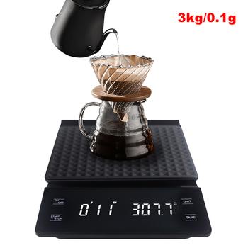 3kg 0 1g cyfrowa waga do kawy z zegarem LCD wagi elektroniczne waga kuchenna waga kuchenna kawa waga do kawy s g oz ml tanie i dobre opinie KETOTEK CN (pochodzenie) Scale with timer 3xAAA (no included) 20*14 5*3cm Coffee scale 3 kg Digital