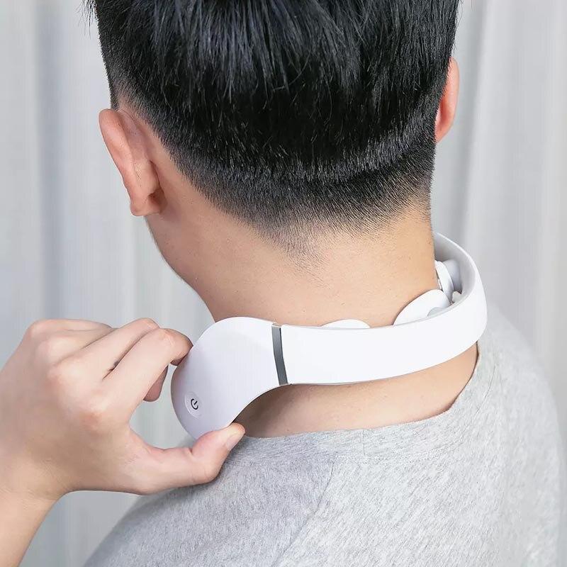 cheapest Original Jeeback Cervical Massager G2 TENS Pulse Back Neck Massager Mijia APP Control 42 Degree Hot Compress Neck Pain Relief