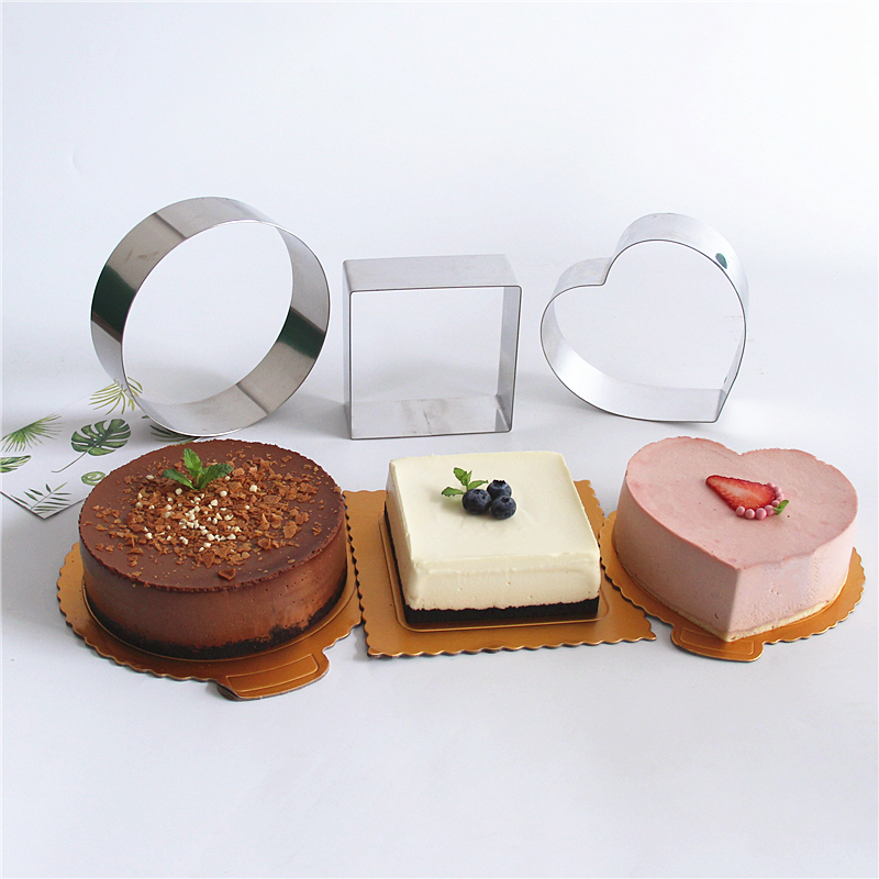 Mould For Salad Baking Dish Diy Bakeware Tools Cupcake <font><b>Mold</b></font> Salad Dessert Die Mousse Ring Cake <font><b>Cheese</b></font> Tool <font><b>Stainless</b></font> <font><b>Steel</b></font> image