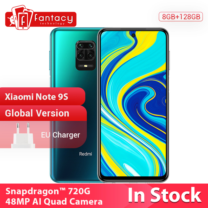 In Stock Global Version Xiaomi Redmi Note 9S 4GB 64GB Snapdragon 720G 48MP AI Quad Camera Smartphone Note 9 S 5020mAh(China)