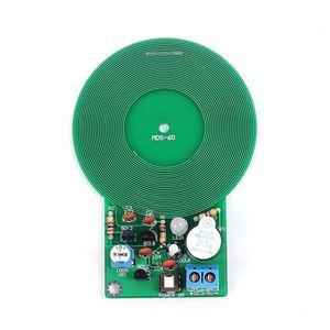 Icstation Less than 60mm Simple Metal Detector,for Assemble Kit DIY Electronic Soldering Practice,Metal Sensor Buzzer Arduino DC