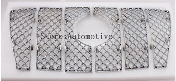 Honeycomb Style Front Grille Grill Mesh Cover for TOYOTA Prado FJ150 2010-2015