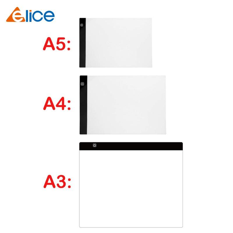 Елис A3 A4 A5 планшет для рисования алмазов картина Плата USB арт копировальная площадка письменной форме эскизов Wacom отслеживания светильник Pad