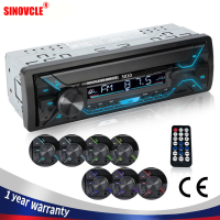 SINOVCLE autoradio Audio 1din Bluetooth Stereo lettore MP3 ricevitore FM 60Wx4 con luci colorate AUX/USB/TF Card In Dash Kit
