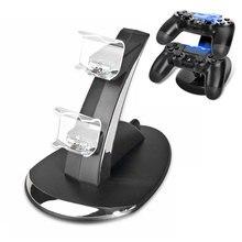 цена на Nouvelle Station de charge double USB pour Sony Playstation 4 PS4/PS4 Pro/PS4 contrôleur mince pour PS4 Dock
