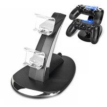 Nouvelle Station de charge double USB pour Sony Playstation 4 PS4/PS4 Pro/PS4 contrôleur mince pour PS4 Dock