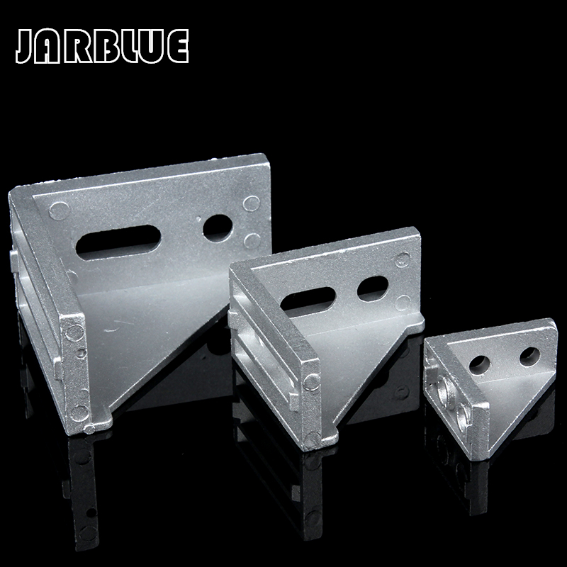 10/20/25pcs Aluminum 2020 Corner Bracket Fittings 20x20x17mm Corner Angle Bracket For Connector Aluminium Profile CNC Router