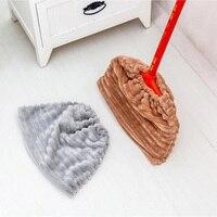 Herramientas de limpieza de cubiertas de barrido, paño de mopa absorbente de franela, cubierta de vidrio fácil de limpiar, fregado, seco, húmedo, doble uso, cubierta de barrido Perezoso