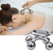 4D роликовый массажер Солнечный микро-токовый Массажер для подтяжки лица и похудения, антицеллюлитный ролик для ухода за кожей