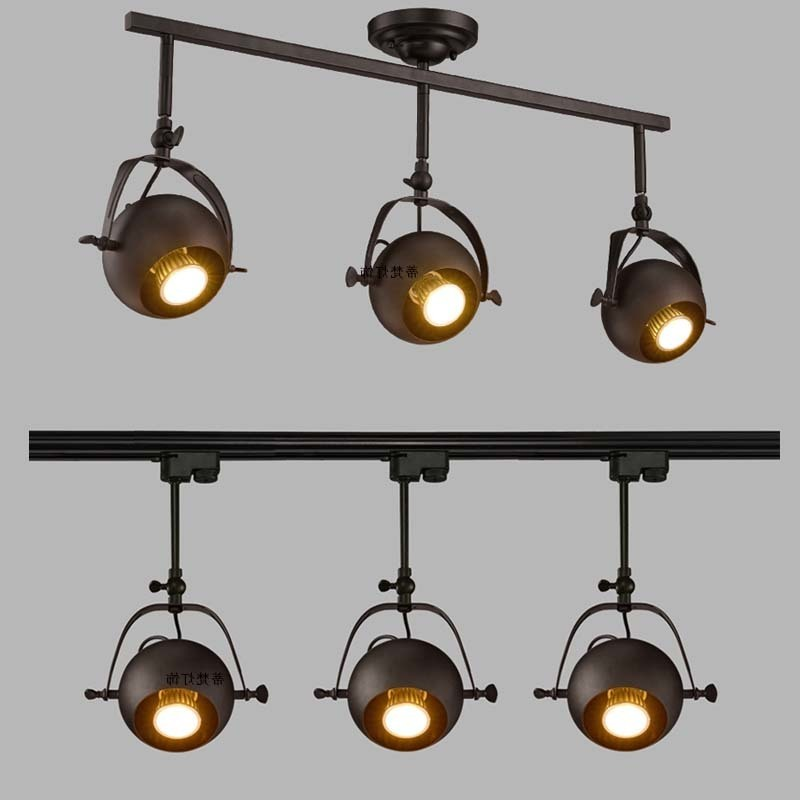 Led Track Light Loft Industry Clothing Store Setting Wall Round With The Long Pole Guide Shoot Light Luminaire