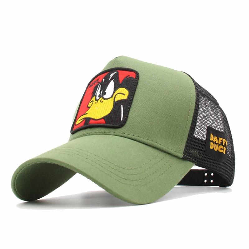 Fashion Animals Embroidery Baseball Caps Men Women Snapback Hip Hop Hat Summer Mesh Hat Streetwear Bone Gorra Animales Bordados