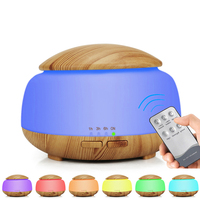 Wood grain air humidifier night lamp aromatherapy humidifier ultrasonic atomization remote control Perfume humidifier