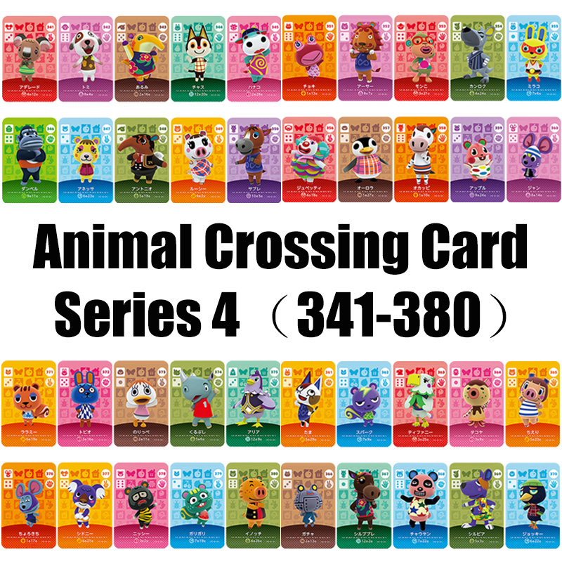 Series4 (341-380) Animal Crossing Card Amiibo Locks Nfc Card Work For NS Games