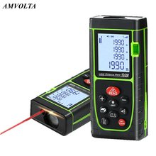 Amvolta Laser Distance Meter 40M 60M 80M 100M Laser Rangefinder Rechargable Trena Tape Range Finder Building Measure Ruler