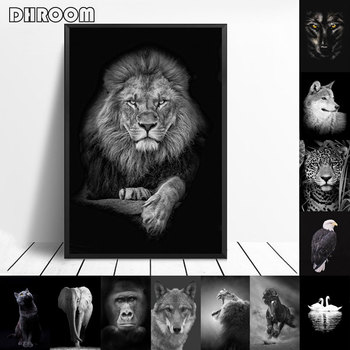 Animal Canvas Painting Wall Art Lion Elephant Horse Posters and Prints Wall Pictures for Living Room Decoration Home Decor lion zebra elephant cow nordic animal posters and prints wall art canvas painting decorative pictures for living room home decor