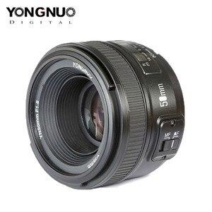 Image 2 - YONGNUO YN50mm F1.8 عدسات لنيكون D800 D300 D700 D3200 D3300 D5100 DSLR كاميرا عدسات لكاميرات كانون EOS 60D 70D 5D2 5D3 600D الأصلي