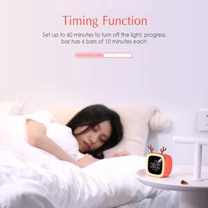 Alarm-Clock Night-Lights Snooze-Function Brightness-Time/date-Display Children Cute Digital