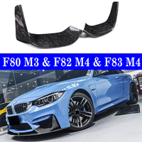FORGED CARBON FIBER FRONT PERFORMANCE BUMPER SPLITTER LIP FOR BMW F80 M3 F82 F83 M4 14~17