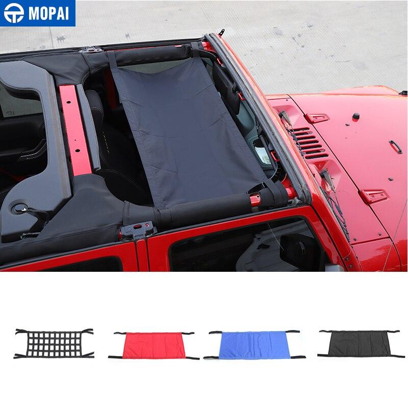 MOPAI Car Roof Cover for Jeep Wrangler Car Top Cargo Net Cover Accessories for Jeep Wrangler JK YJ TJ JK JKU 1987-2020