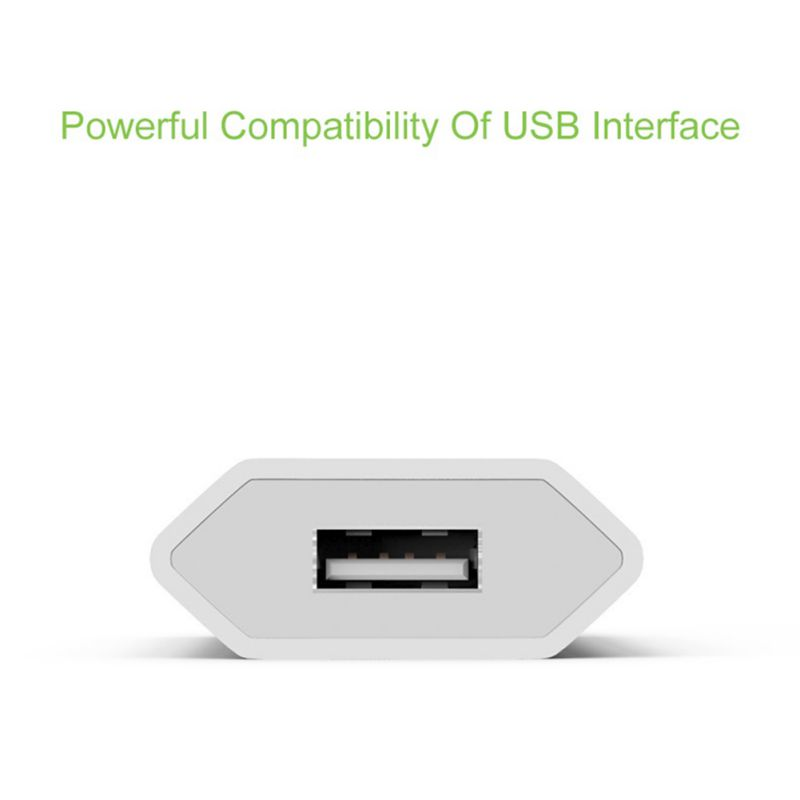 White Color EU Plug Power Adapter USB Charger Universal Phone Wall Charger 5A Charging Head No Cable For IPhone Huawei Drop - 4