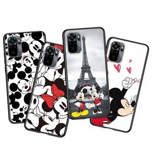 Image 2 - Mickey Minnie en Londres para Xiaomi Redmi Nota 10 10 10 10S 9 9T 9S 9Pro Max 8T 8Pro 8 7 6 5 Pro 5A 4X 4 suave negro teléfono caso