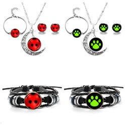 Uğur böceği kız siyah kedi kolye kulak damızlık bilezik çocuk süsler mucizevi uğur böceği çapraz sınır sıcak satış