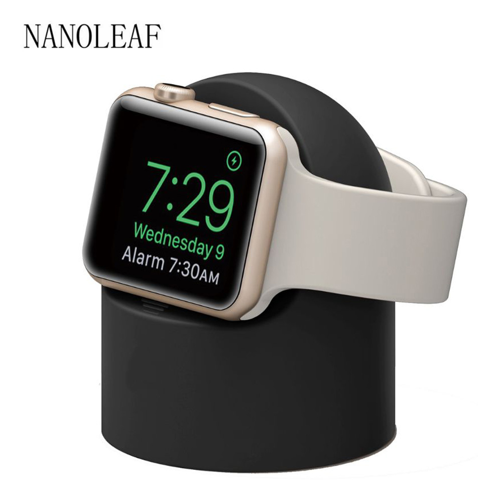 Charging Stand for iWatch Series 6 SE 5 4 3 2 1 Silicone Dock Charger Holder for Apple Watch 44M 42MM 40MM 38MM Watch Stand