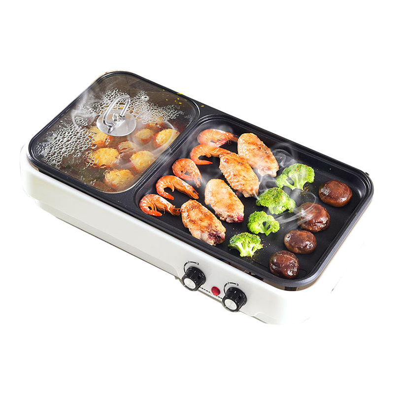 Multifunction Baking Pot Barbecue Machine Electric Hot Pot Grill Household Smoke Free Not Sticky Indoor Multipurpose