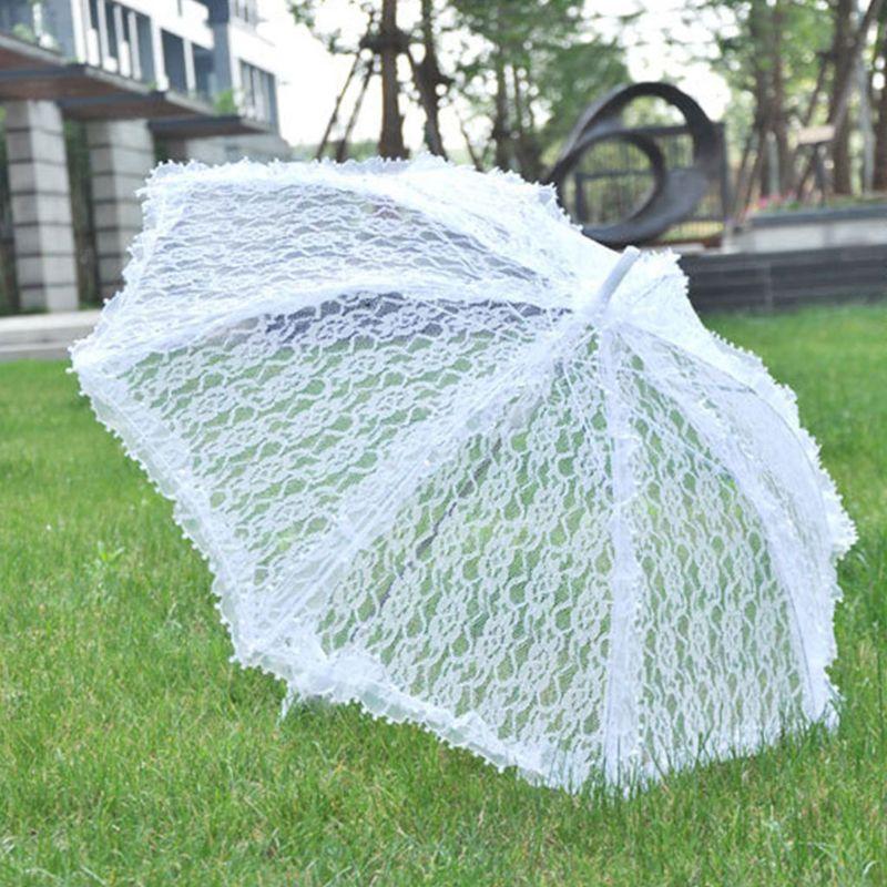 Simple Wedding Supplies Lace Hollow Bride Wedding Umbrella Photo Decoration Photography Props